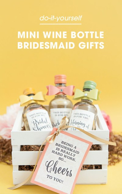 The Most Adorable DIY Mini-Wine Bottle Bridesmaid Gift Ever!