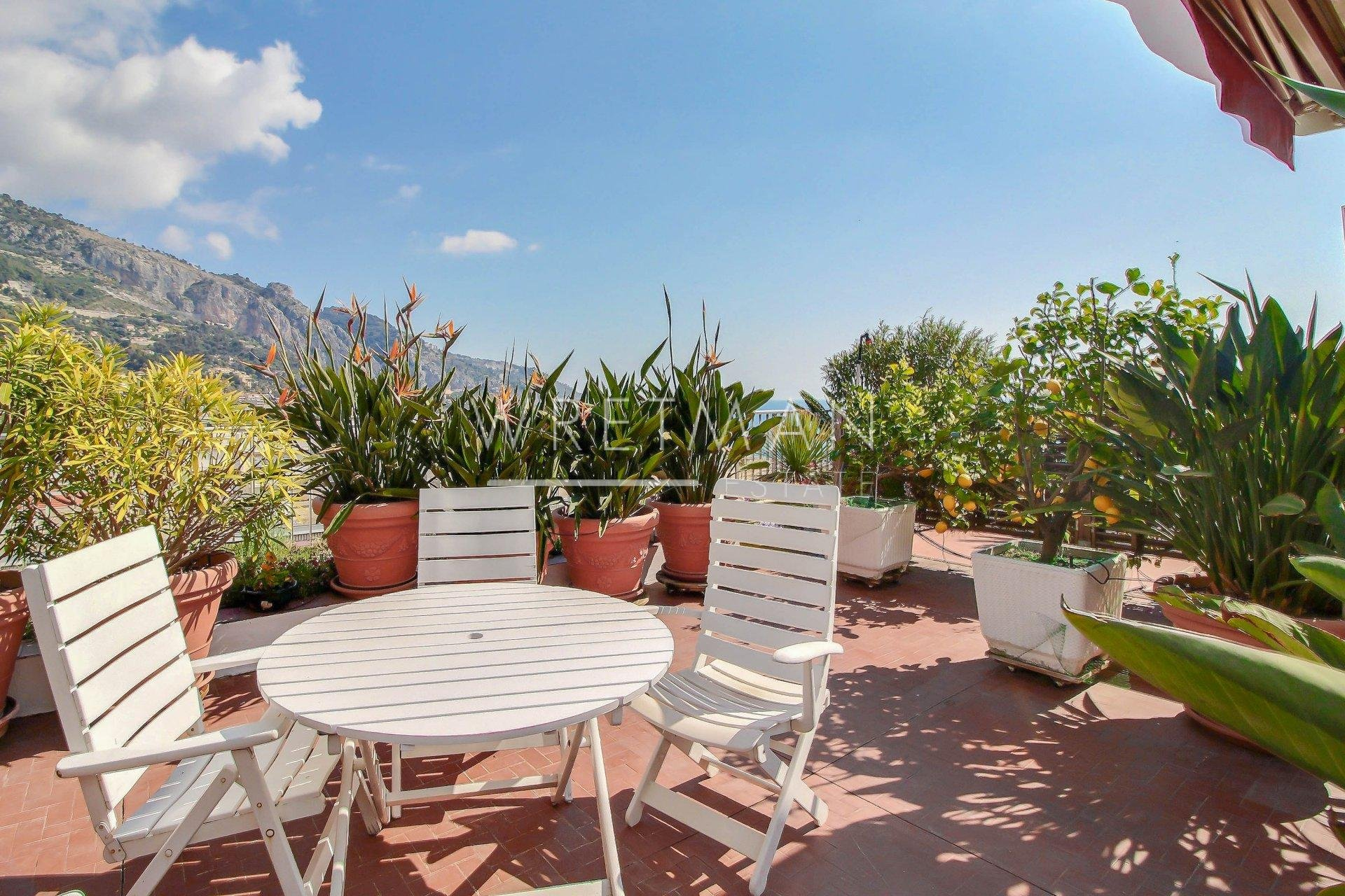 Toit Terrasse Hotel Nice 3 Room Apartment With Amazing View Menton Garavan