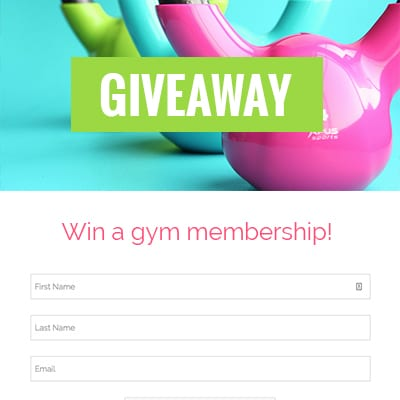 Templates for Contests, Giveaways or Landing Pages - ShortStack