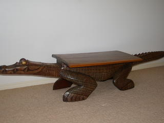 FOR SALE: Papua new guinea carved crocodile table