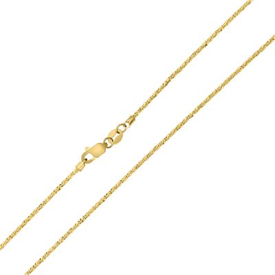 10K Yellow Gold 11mm Sparkle Chain with Lobster Clasp - 18 Inch