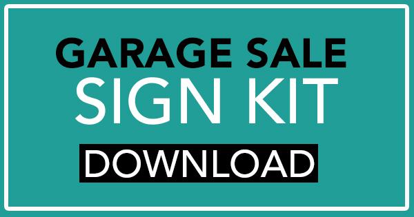 Garage Sale Sign Kit Free Download - Garage Sale Blog - free for sale signs for cars