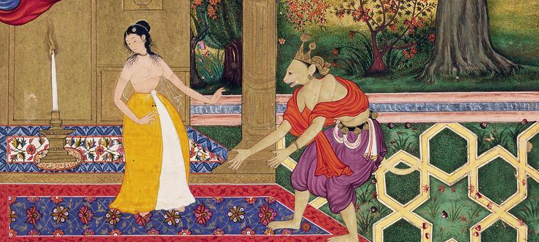 Eight exquisite Mughal miniatures of the Ramayana commissioned by - mughal empire