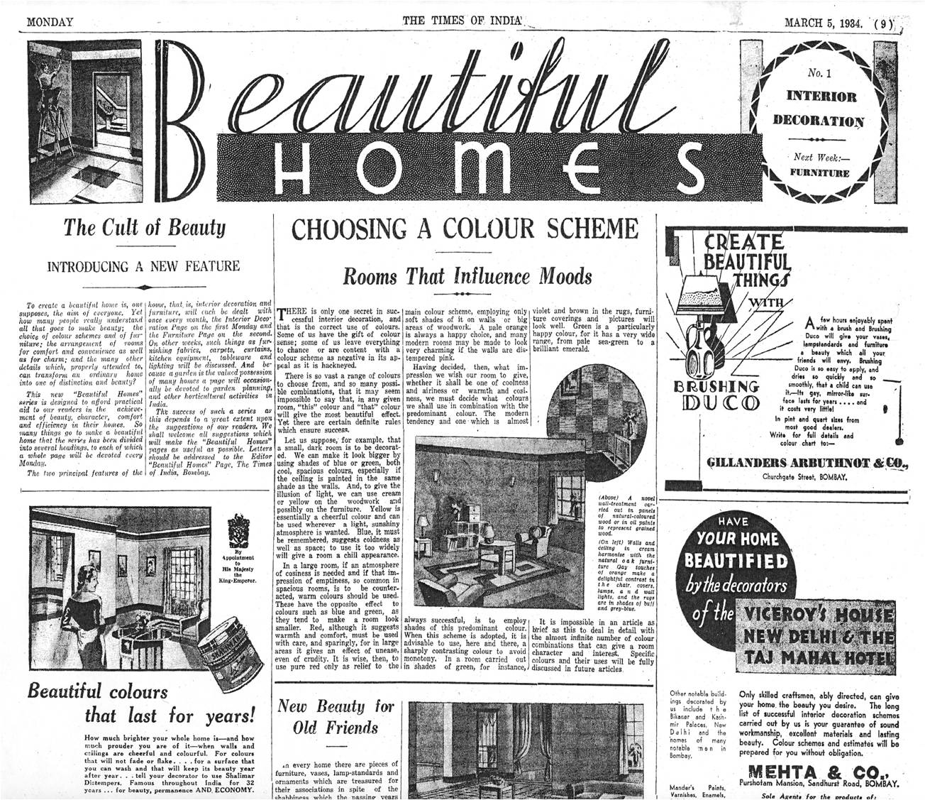 Home Decor Mumbai Vintage Ads How Mumbai Home Decor Was Transformed By A Global