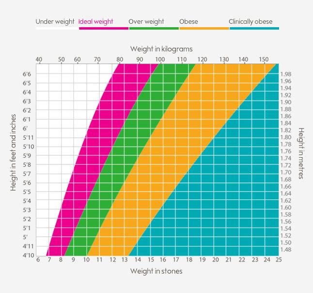 BMI calculator Weight loss Waitrose - weight bmi