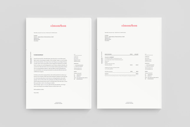 Dunked Mast branding stationary corporate identity logo - Official Letterhead