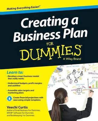 Creating a Business Plan For Dummies  Veechi Curtis  9781118641224