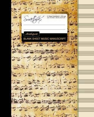 Blank Sheet Music  Smart Bookx  9781519108708