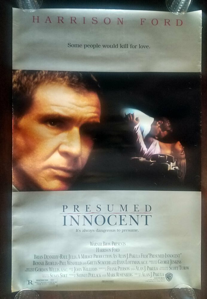 PRESUMED INNOCENT Video Store Movie Poster HARRISON FOR