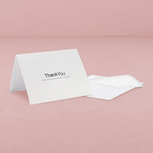 Monogram Simplicity Thank You Card With Fold - Open Area for