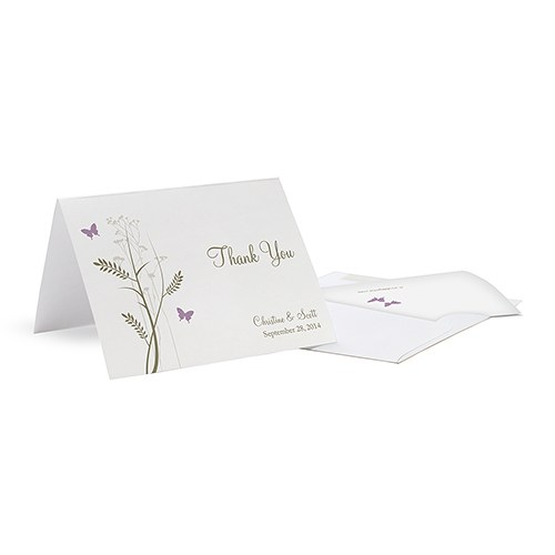 Romantic Butterfly Thank You Card - The Knot Shop - butterfly thank you cards