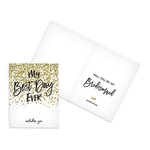 Sparkle Thank You Card With Fold - The Knot Shop