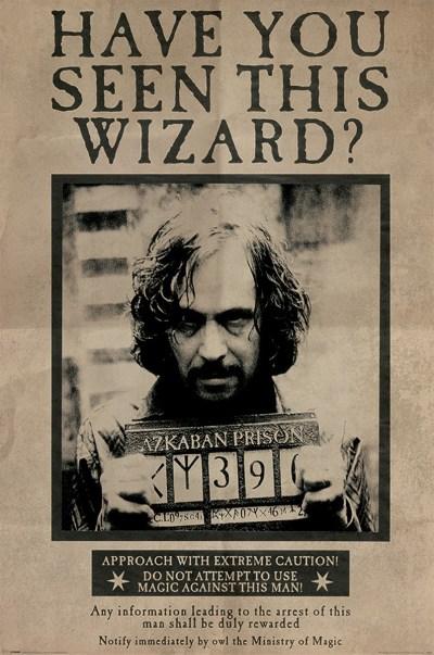 Harry Potter Sirius Black Wanted Poster - Buy Online at Grindstore.com