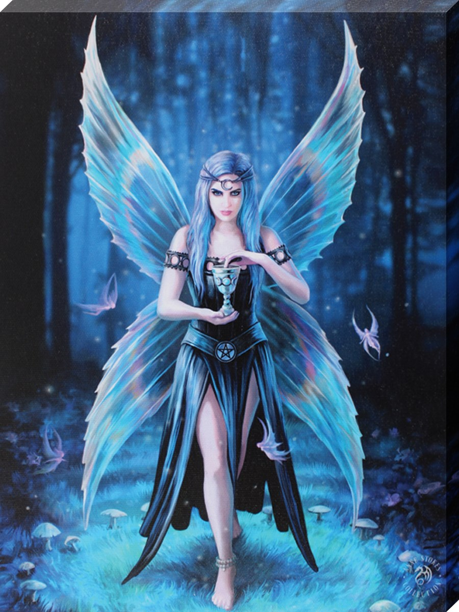 Anime Dark Angel Wallpaper Anne Stokes Enchantment Canvas Buy Online At Grindstore Com