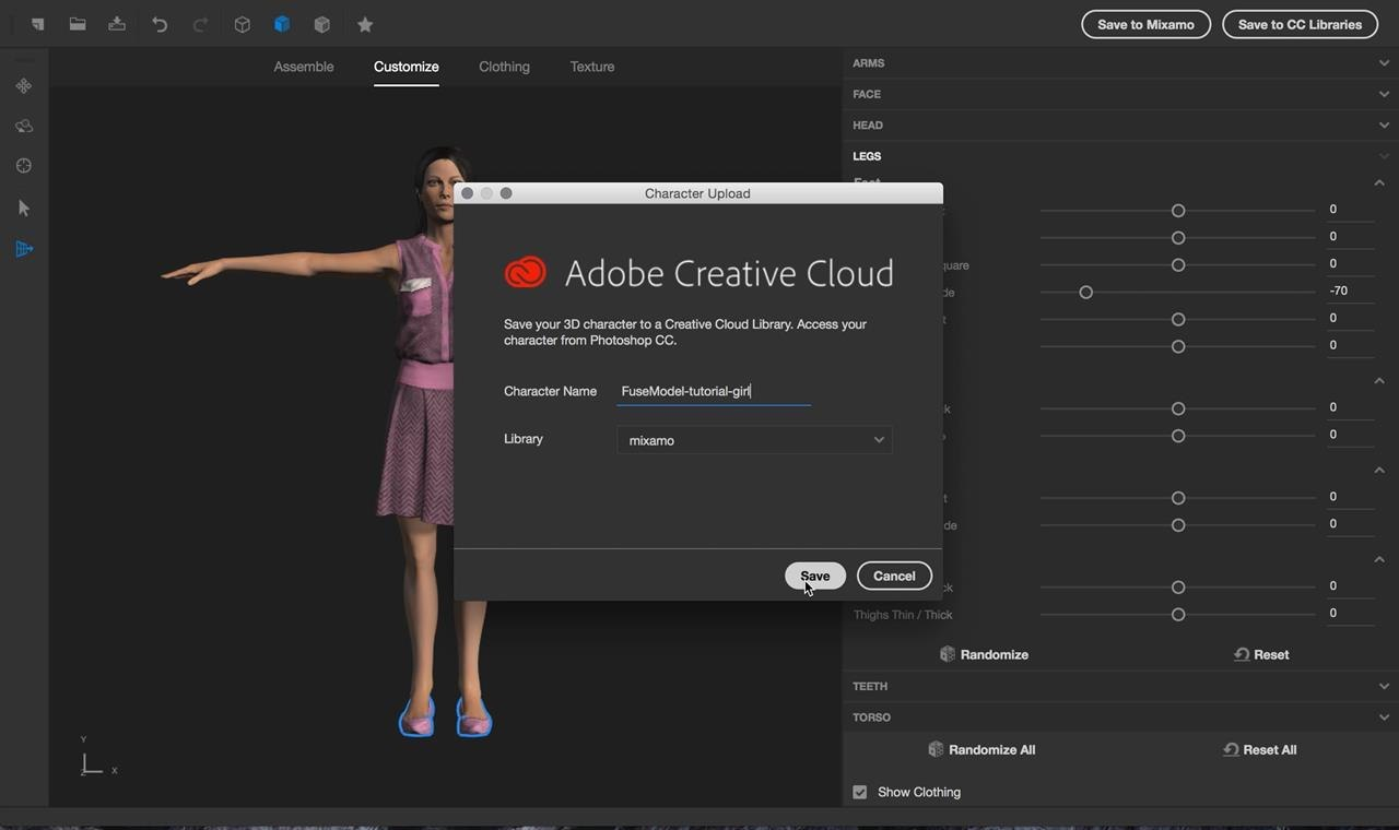 Cc Tutorial Tutorial Create 3d Animated Gifs With Adobe Fuse Cc And Photoshop