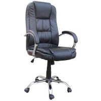 Homegear PU Leather Executive Wheeled Computer Desk Chair ...