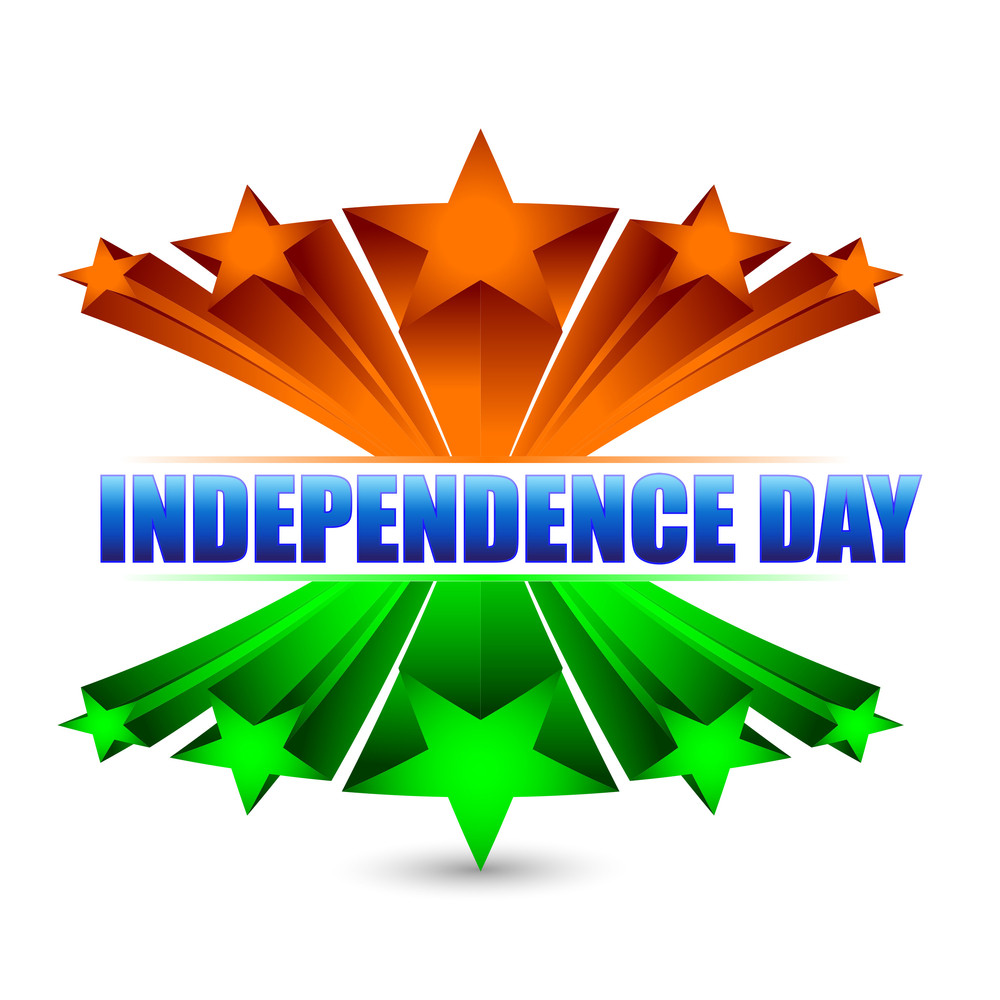 Drapeau India 3d Indian Flag Background With Text Independence Day Royalty