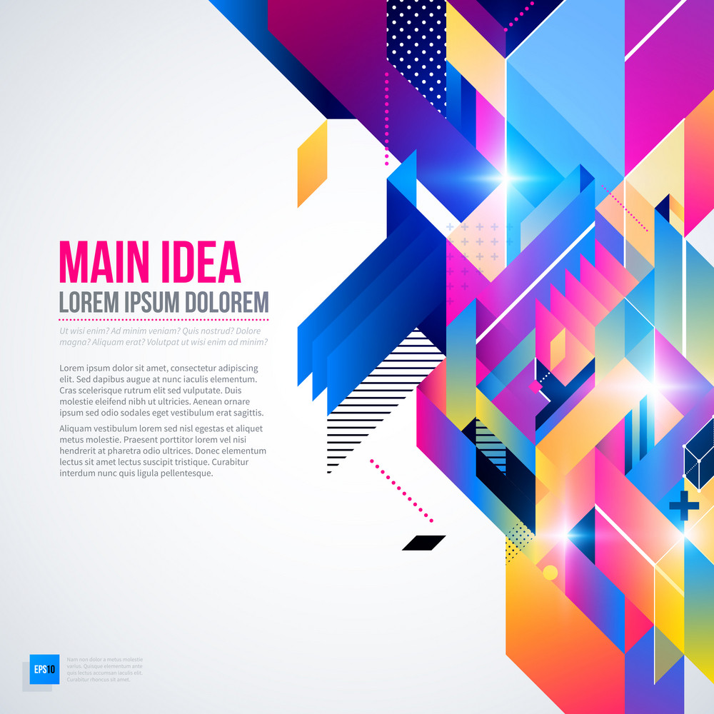 Futuristik Design Text Background With Abstract Geometric Element And Glowing Lights