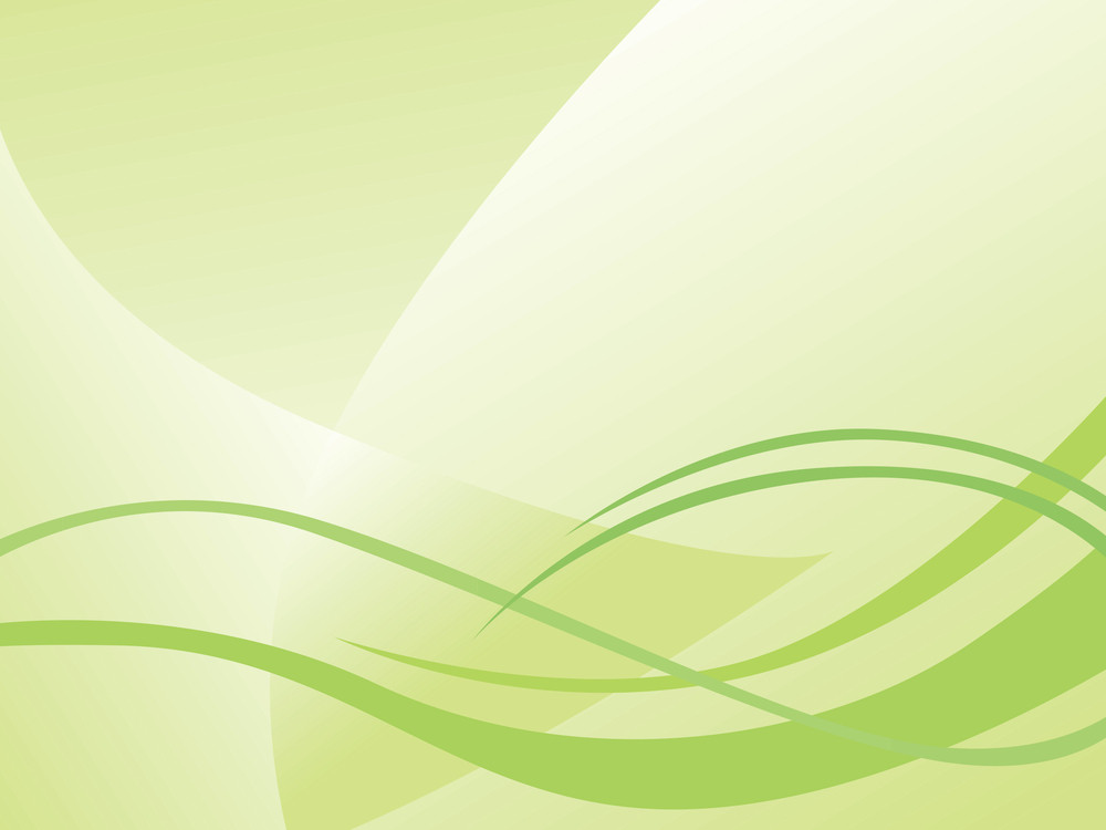 Abstract Waves On Green Background Royalty-Free Stock Image
