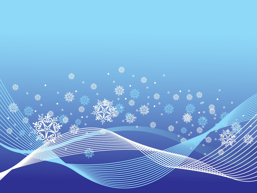 Blue Wave Background With Artistic Floral Royalty-Free Stock Image