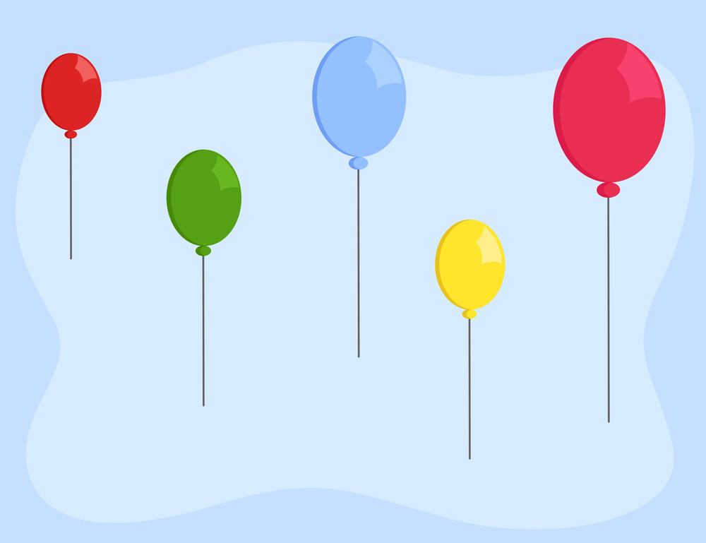 Cartoon Background - Balloons Floating In Sky Royalty-Free Stock