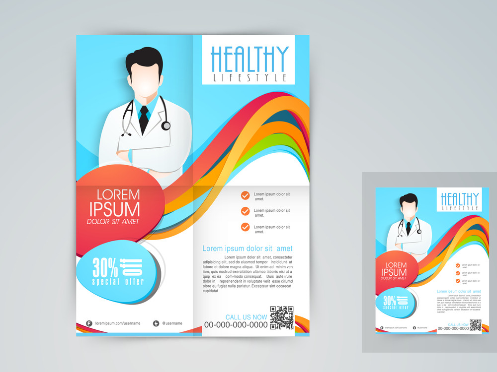 Medical flyer banner Royalty-Free Stock Image - Storyblocks