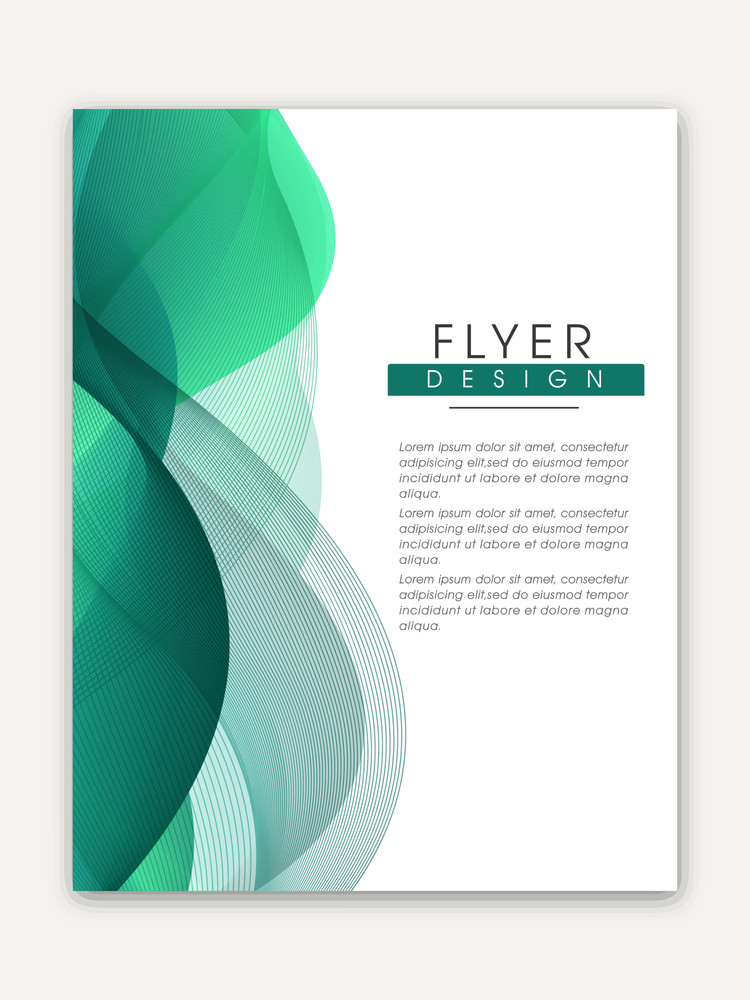 Creative one page Business Flyer Banner or Template with glossy
