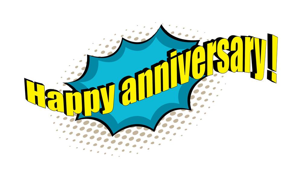 Happy Anniversary Retro Text Banner Design Royalty-Free Stock Image