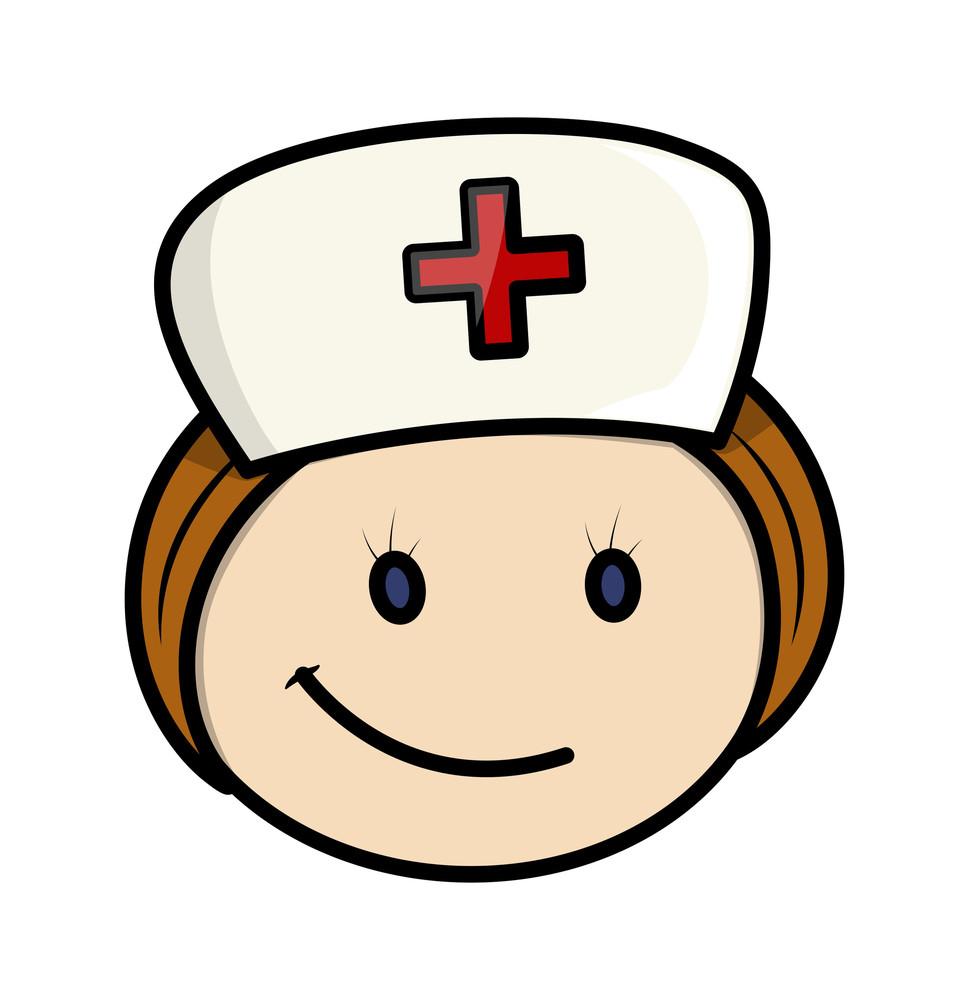 Smiley Girl Wallpaper Happy Cartoon Nurse Character Face Royalty Free Stock