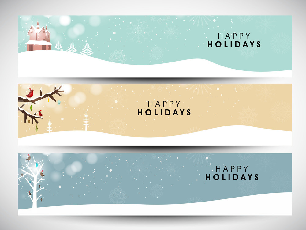 Happy Holidays Website Headers Or Banners Royalty-Free Stock Image - free images happy holidays