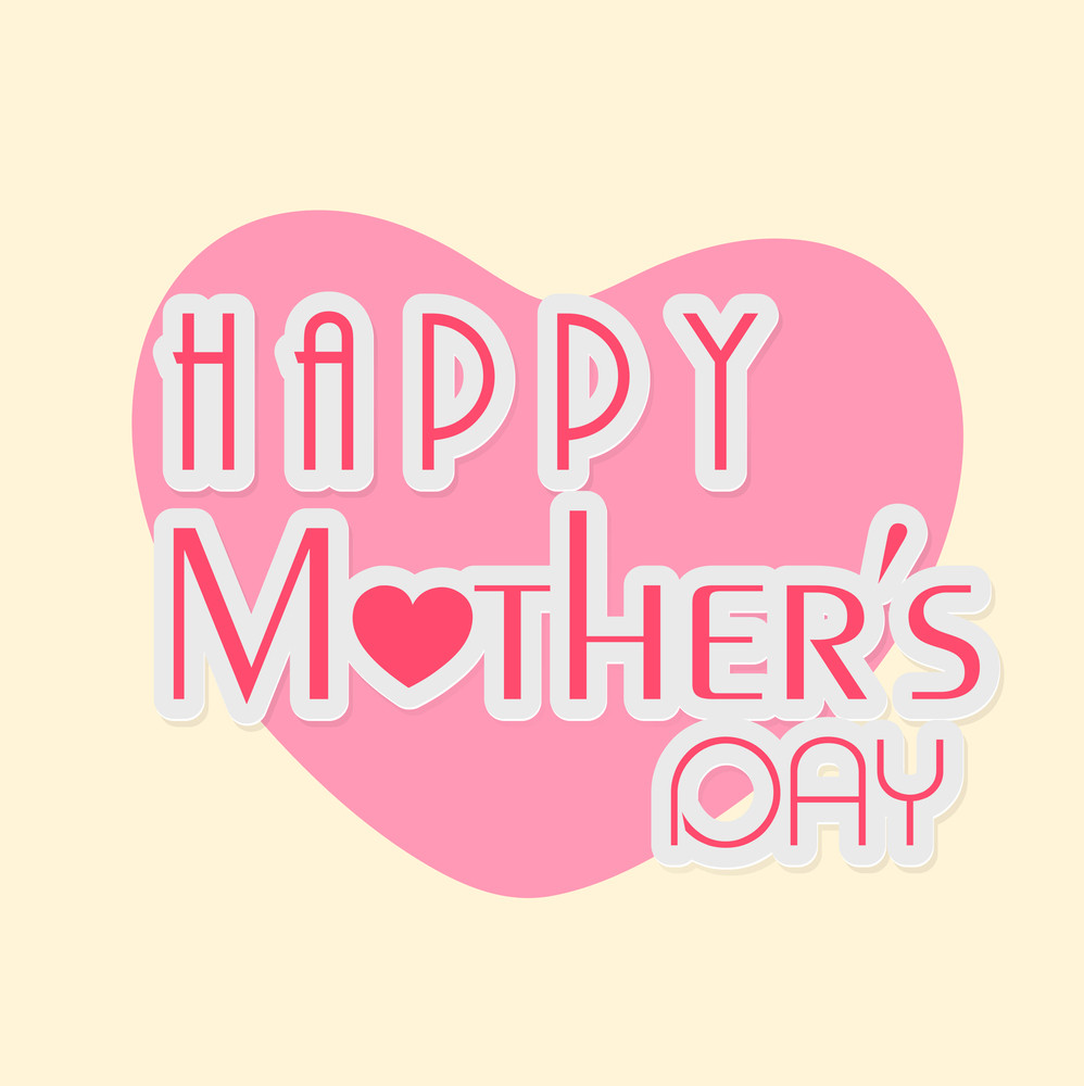 Design Grußkarten Happy Mothers Day Celebrations Greeting Card Design Royalty Free