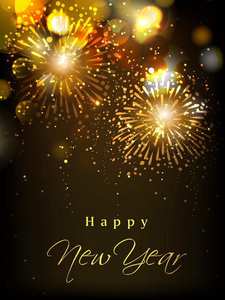 Happy New Year Celebration Background Royalty-Free Stock Image