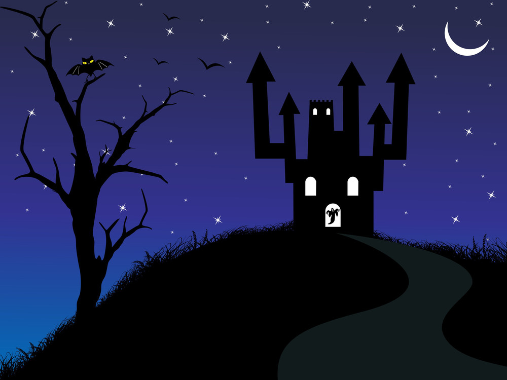 Illustration Of Spooky Background Royalty-Free Stock Image