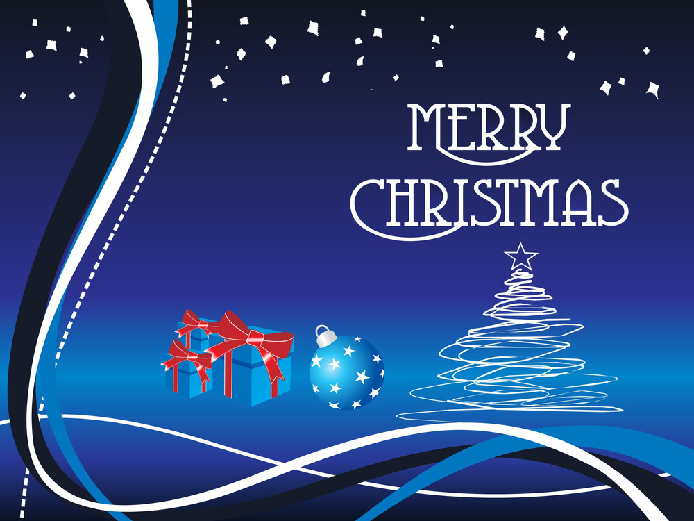 Merry Christmas Background With Stripes Royalty-Free Stock Image