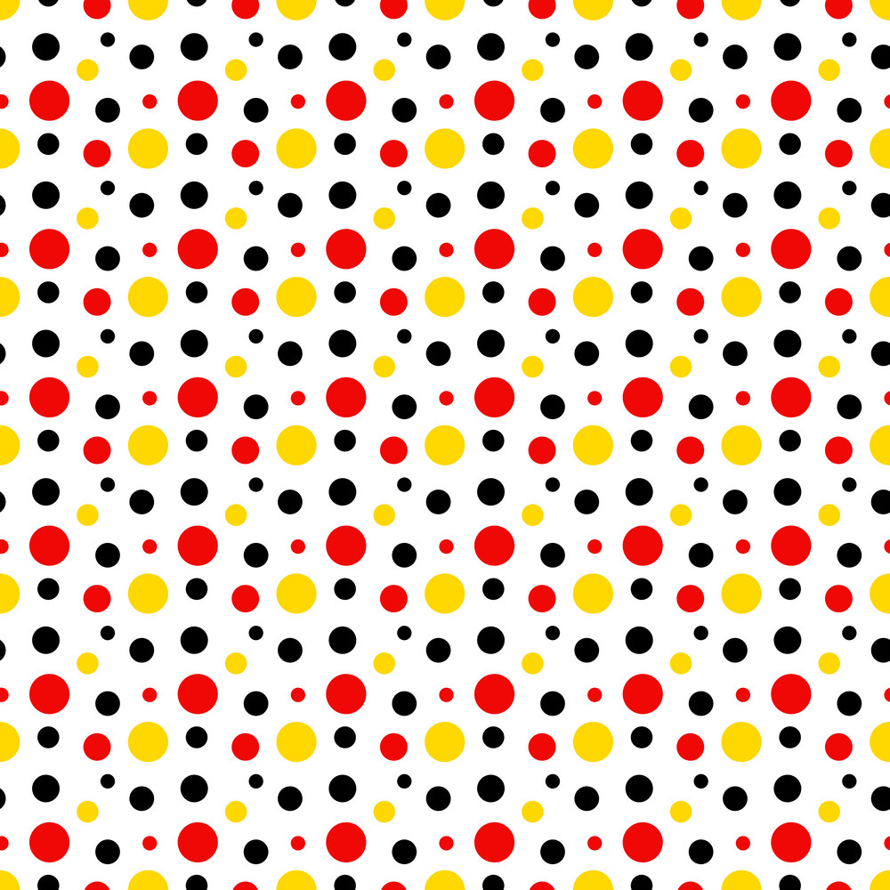 Black And White Polka Dot Wallpaper Border Mickey Mouse Pattern Of Red Black And Yellow Polka Dots