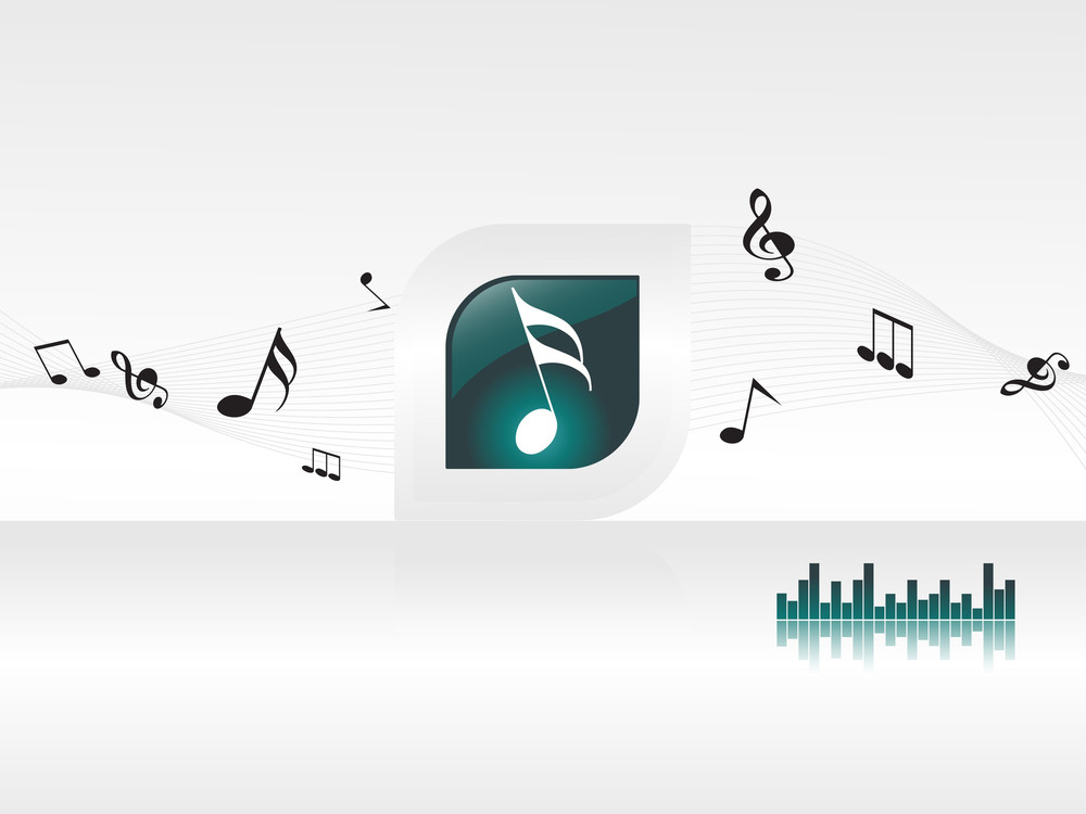 Music Background With Different Notes And Graph Royalty-Free Stock