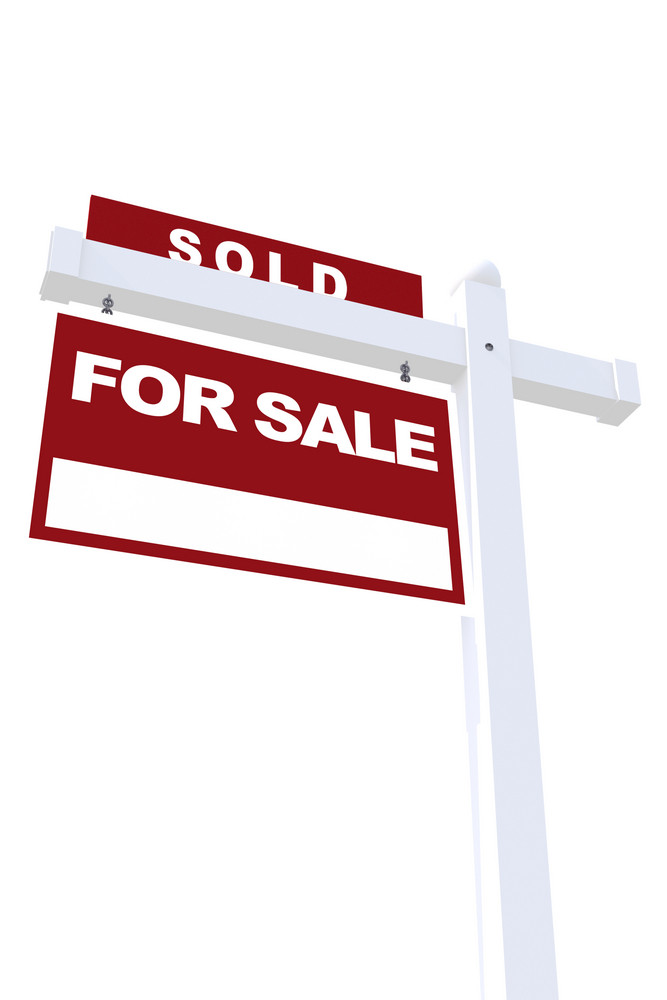 Real Estate Sign Sold Royalty-Free Stock Image - Storyblocks Images