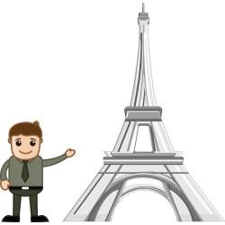 Small Crop Of Eiffel Tower Cartoon