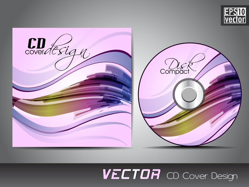 Vector Cd Cover Design Template With Copy Space Eps 10 Royalty-Free