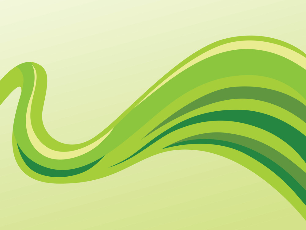 Vector Green Waves Background Royalty-Free Stock Image - Storyblocks