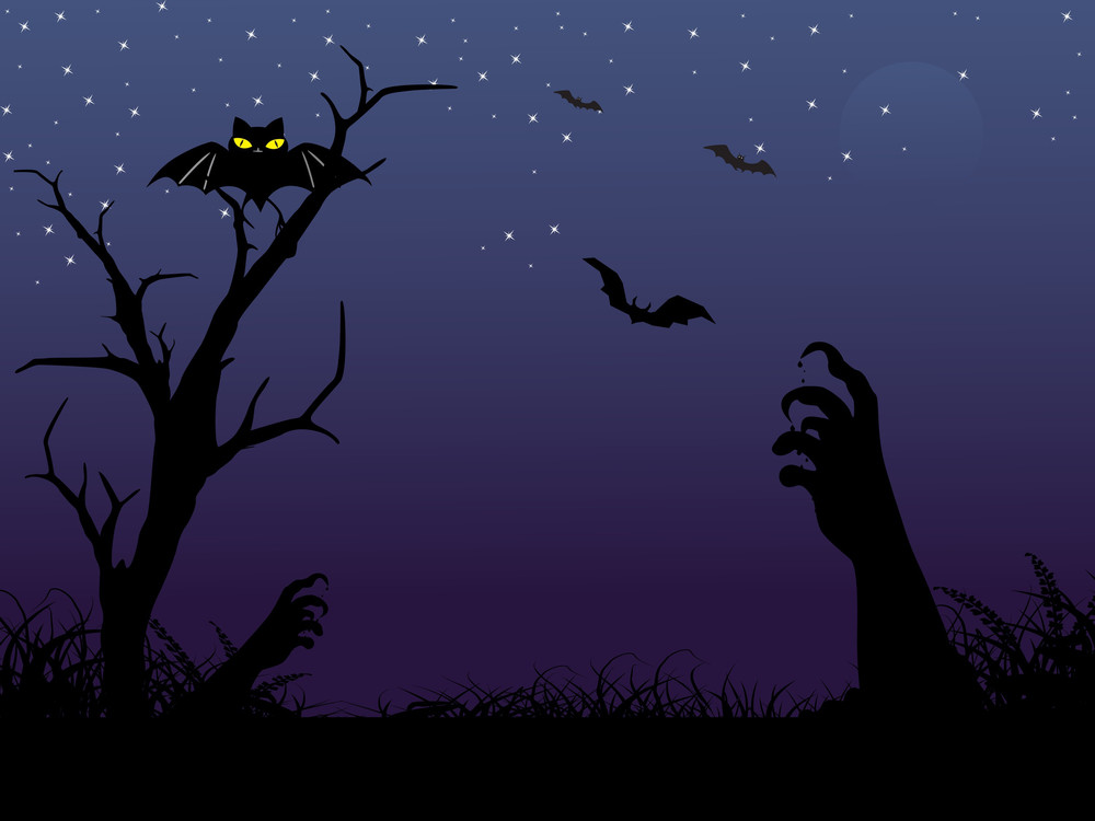 Vector Spooky Halloween Background Royalty-Free Stock Image