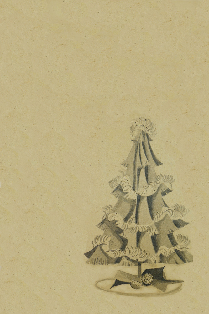 Vintage-christmas-tree-background Royalty-Free Stock Image