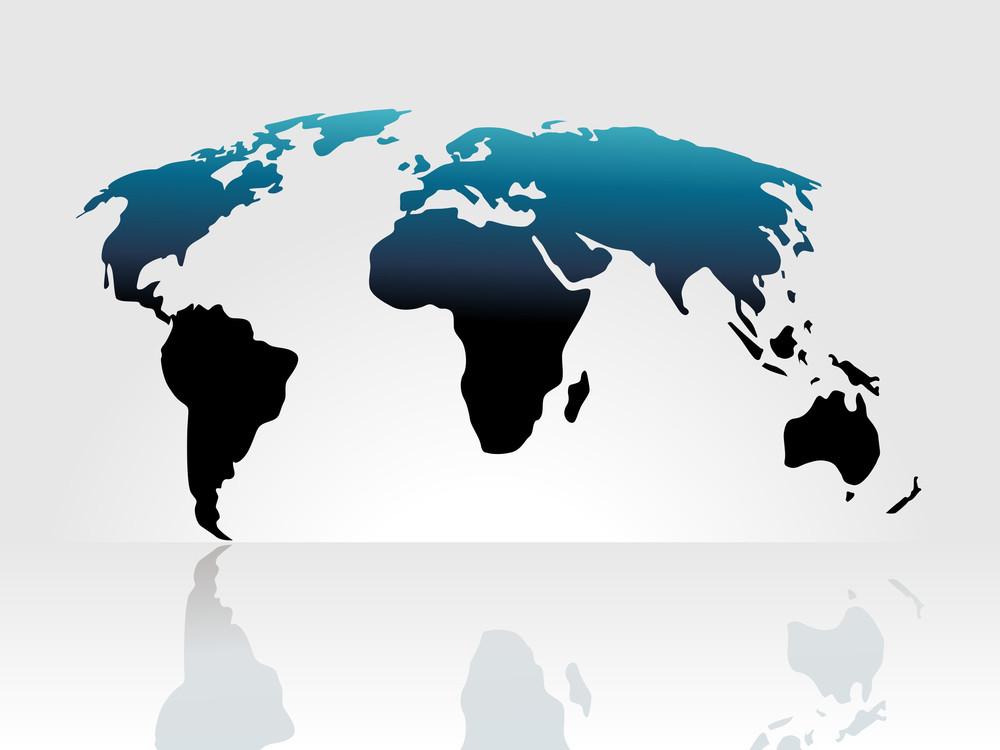 World Map Background Isolated On White Royalty-Free Stock Image