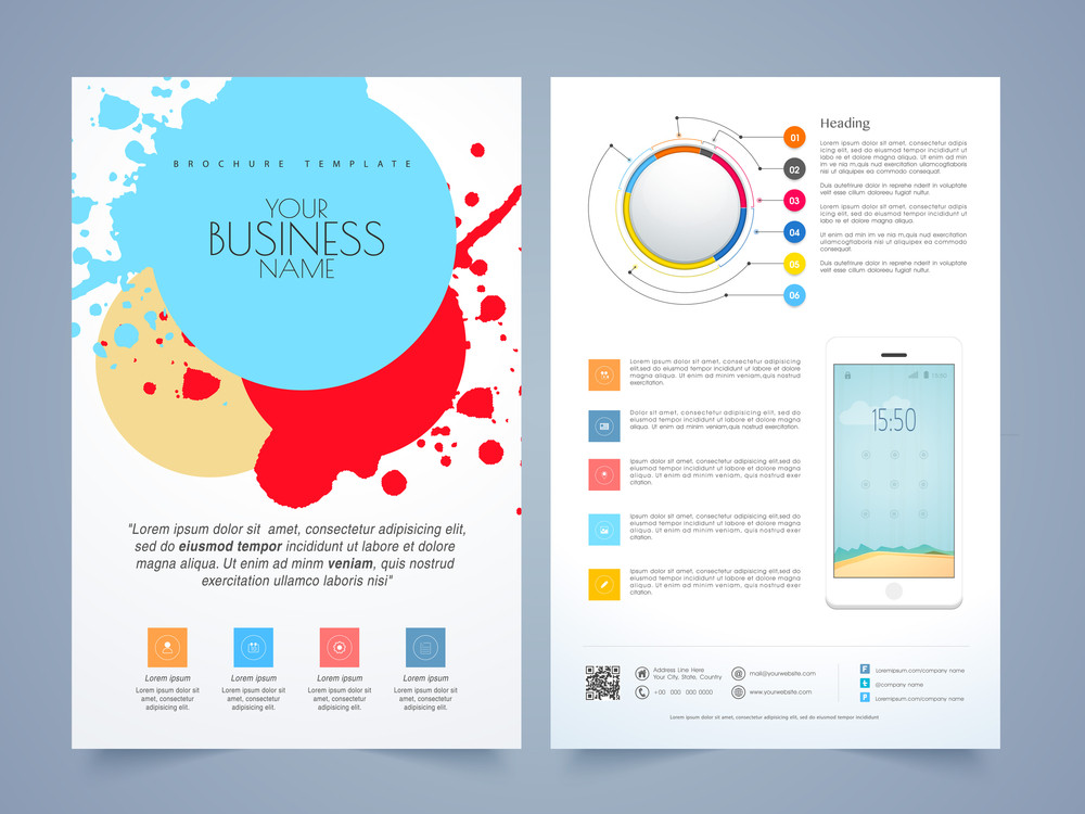 Creative infographic flyer, template or brochure design for business