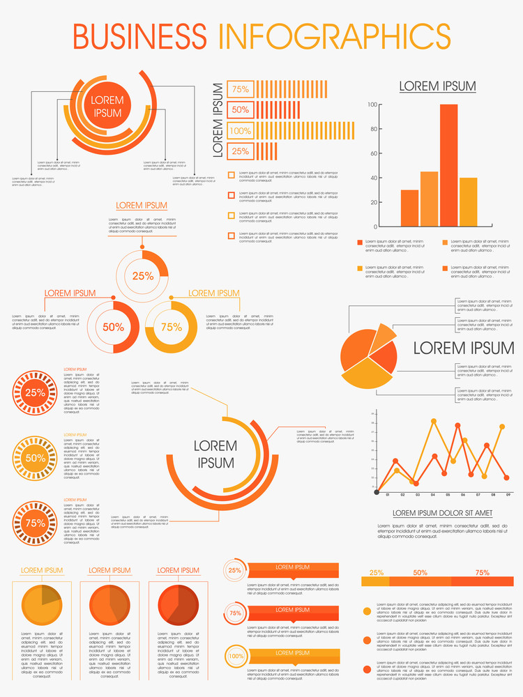 Stylish infographics template layout for business and corporate
