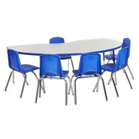 """Ecr4kids Shape Activity Table & Chair Package (48"""" X 72 ..."""