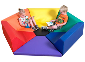Childrens Factory Hexagon Happening Hollow Soft Activity