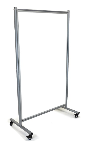 Luxor Mobile Whiteboard Room Divider - Md4072w Display Partitions