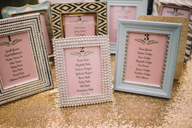 Invitations  More Photos - DIY Framed Seating Charts - Inside Weddings