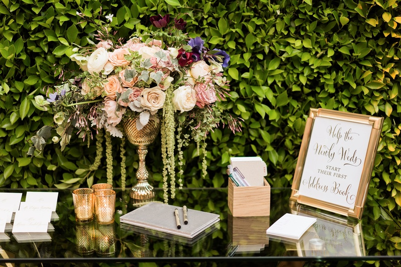 Reception Décor Photos - Address Book Station at Reception - Inside